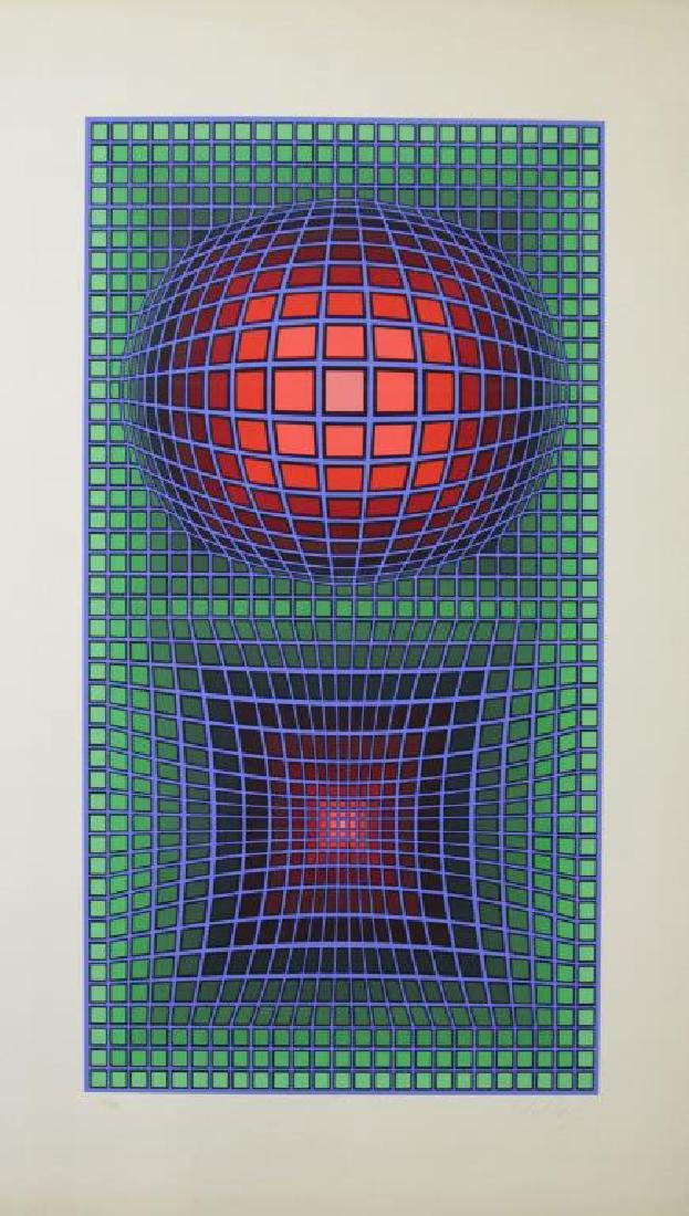 VASARELY, Victor. Two Signed Screenprints. - 5