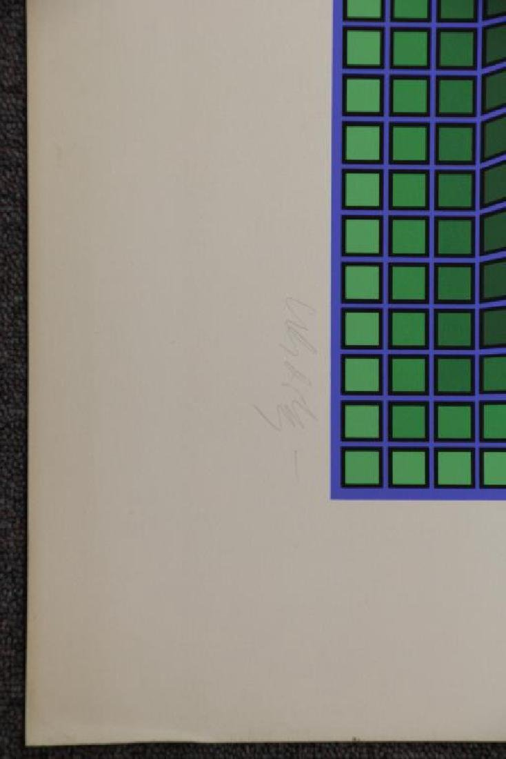 VASARELY, Victor. Two Signed Screenprints. - 6