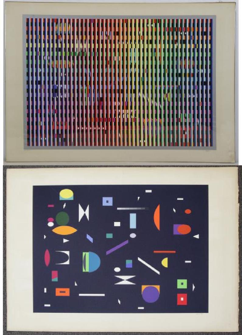 AGAM, Yakov. Two Signed Color Screenprints.
