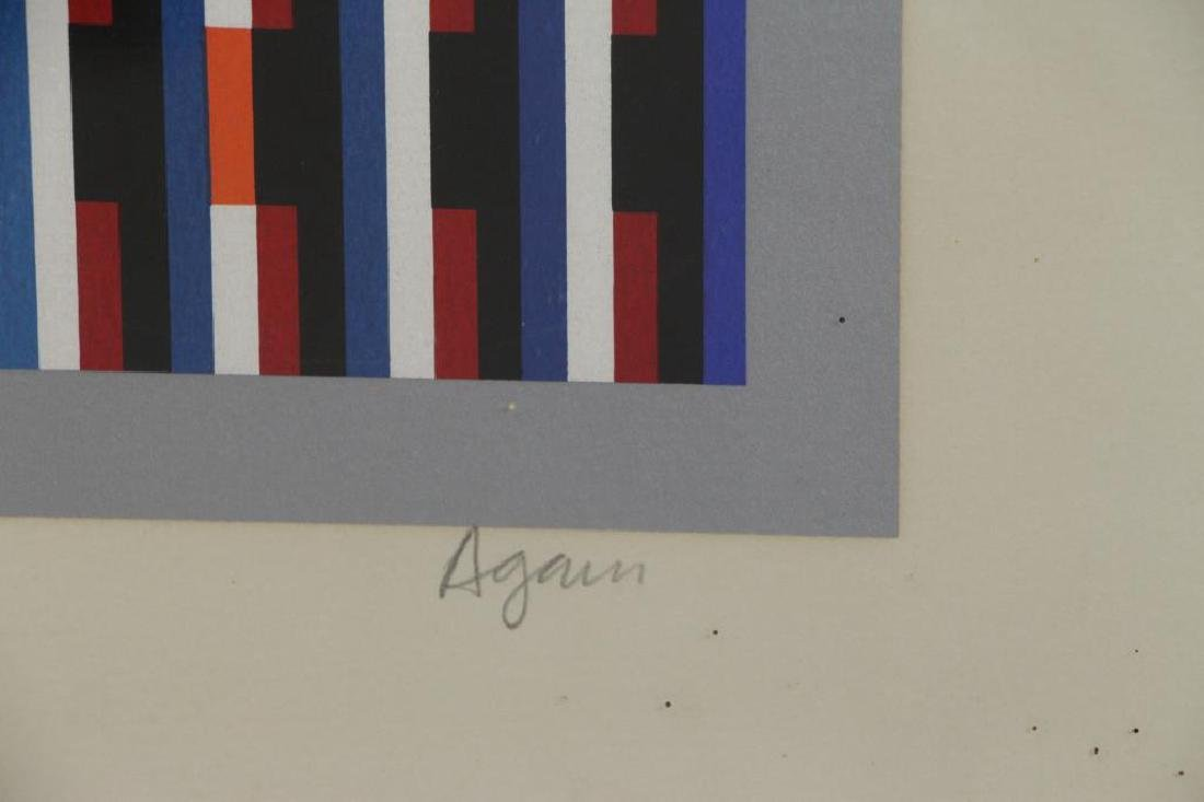 AGAM, Yakov. Two Signed Color Screenprints. - 4