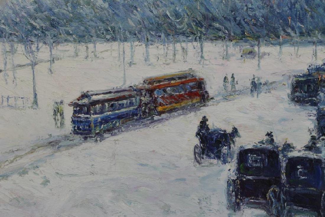 SIMON, P. Oil on Canvas. European Park in the Snow - 3