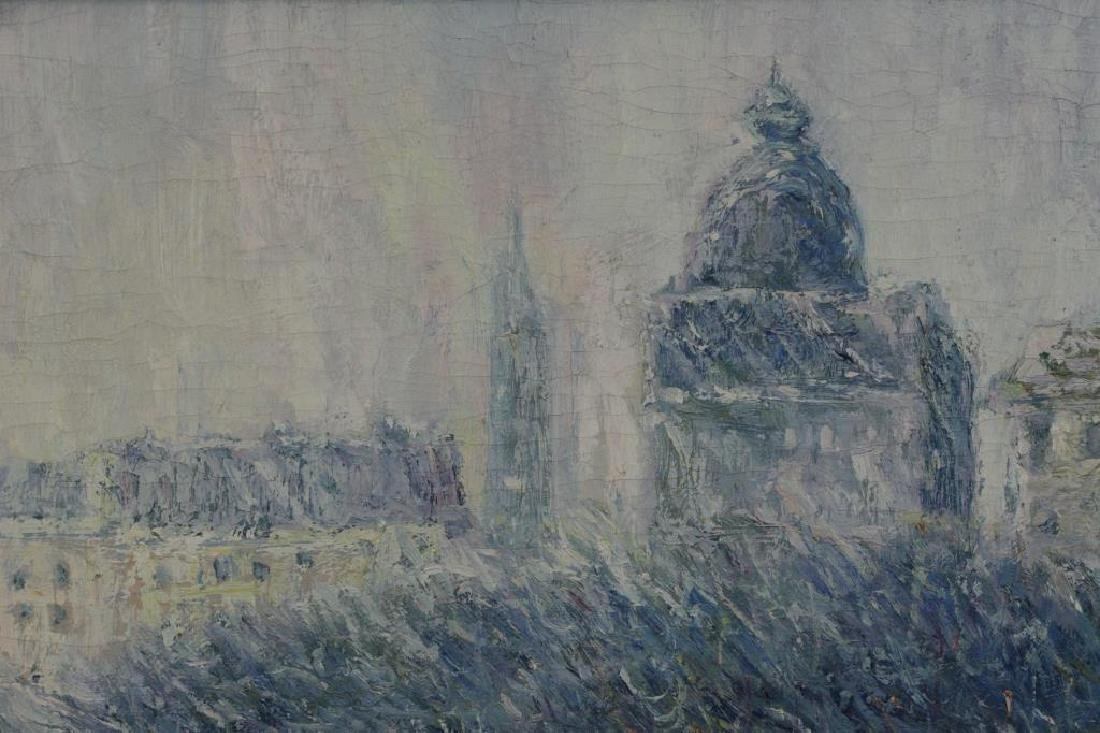 SIMON, P. Oil on Canvas. European Park in the Snow - 4