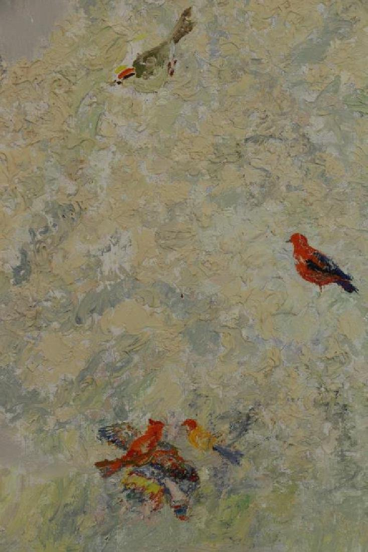 MESHBERG, Lev. Oil on Canvas. Church with Birds - 4