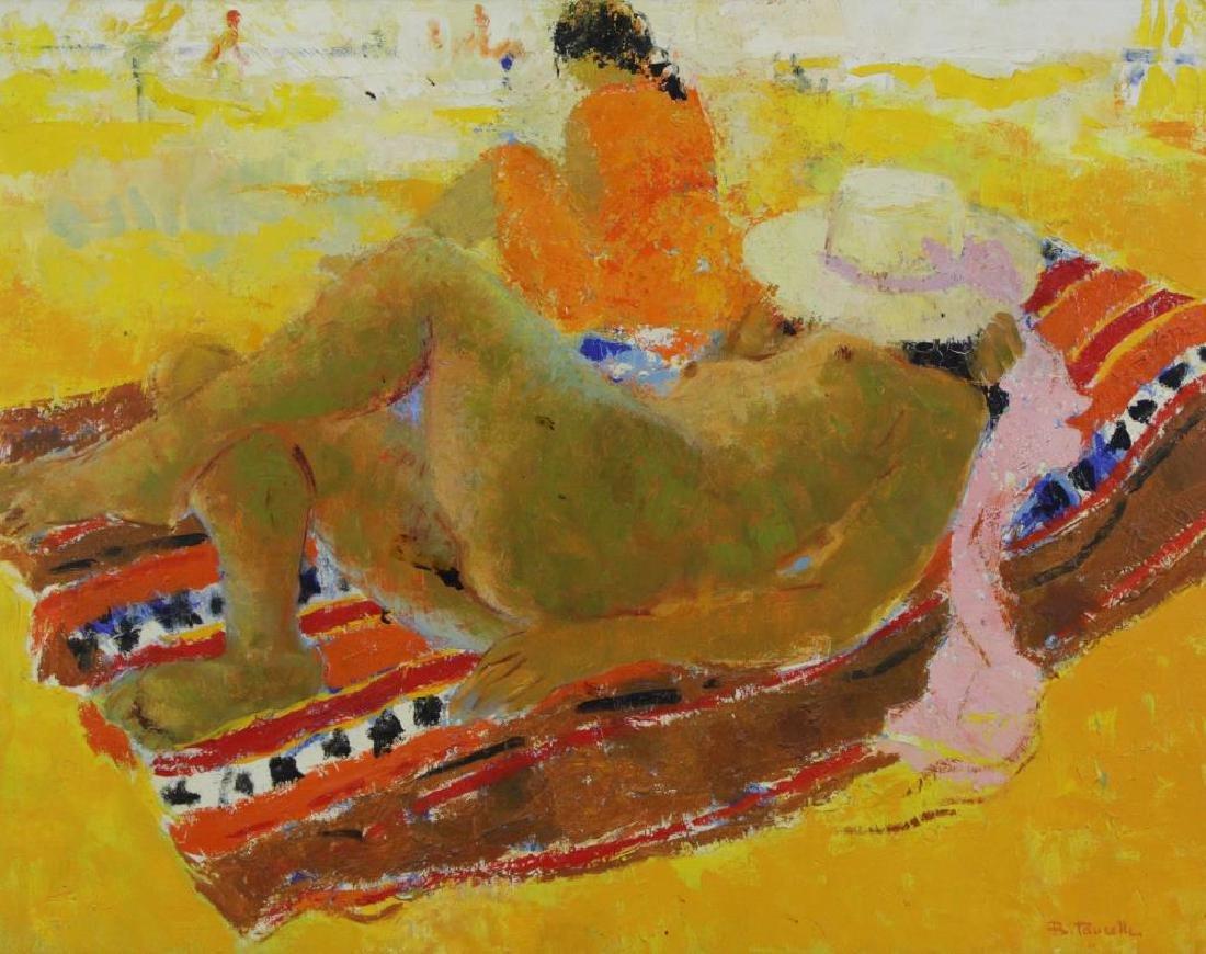 TAURELLE, Bernard. Oil on Canvas. Nude on the