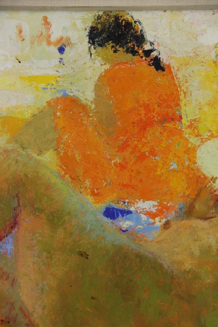 TAURELLE, Bernard. Oil on Canvas. Nude on the - 4