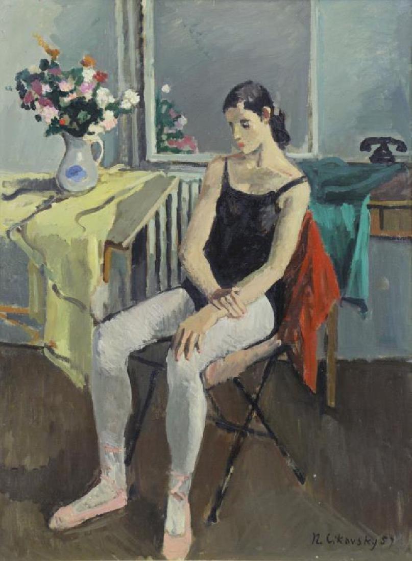 CIKOVSKY, Nicolai. Oil on Canvas. Dancer at Rest,