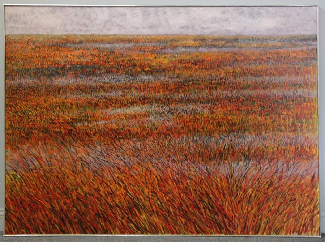 "PETERDI, Gabor. Oil on Canvas ""Red Salt Marsh"" - 2"
