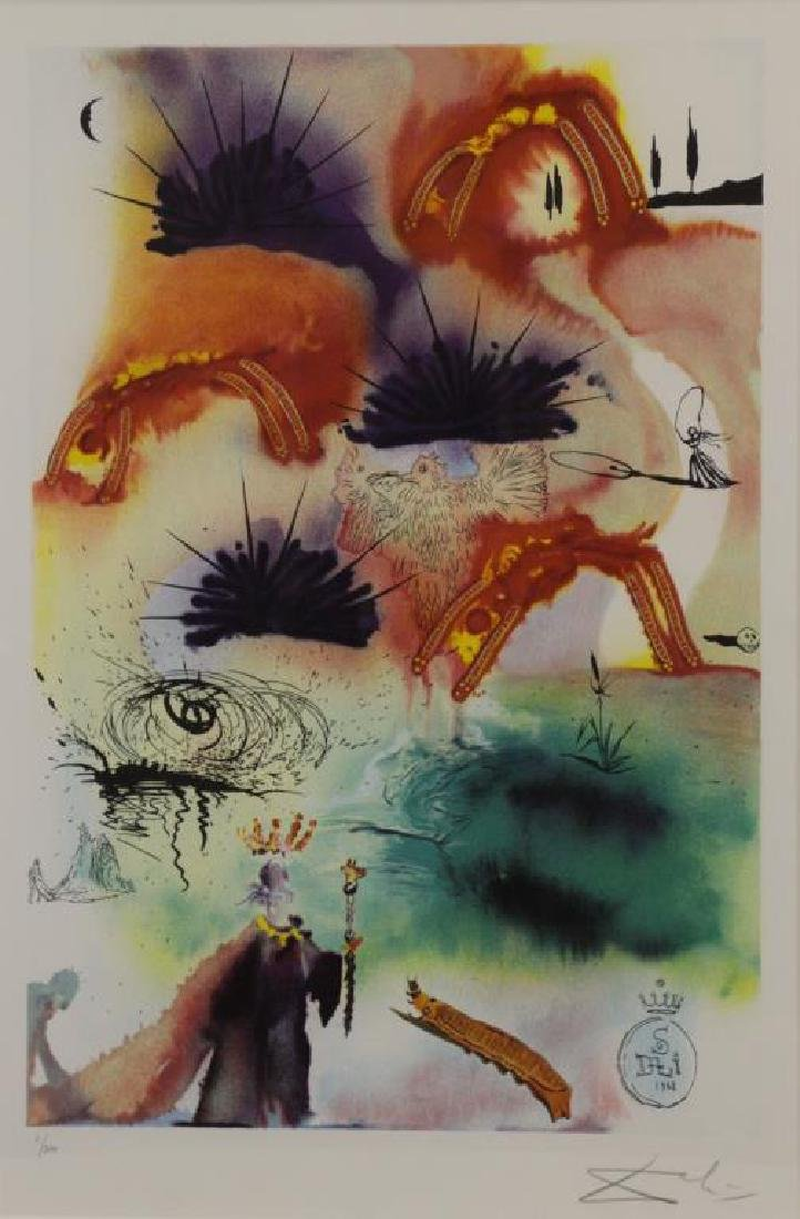 "DALI, Salvador (After). Two Lithographs From ""Alice in - 2"