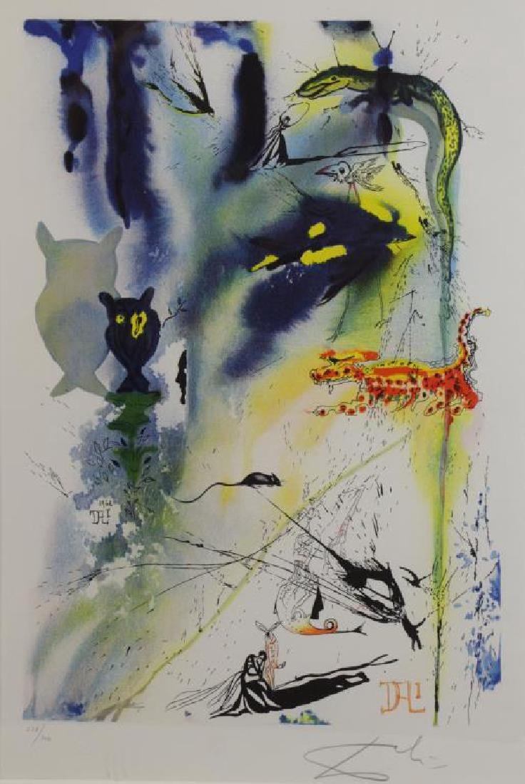 "DALI, Salvador (After). Two Lithographs From ""Alice in - 6"