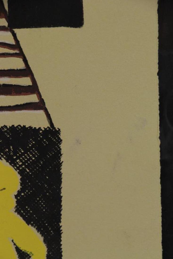 """HARARI, Hananiah. Screenprint """"City Signs"""" - 5"""