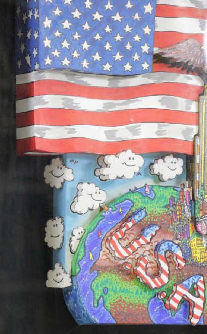 "FAZZINO, Charles. 3-D Acrylic on Canvas. ""American - 5"