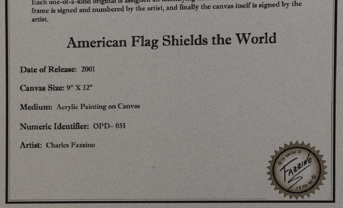 "FAZZINO, Charles. 3-D Acrylic on Canvas. ""American - 9"
