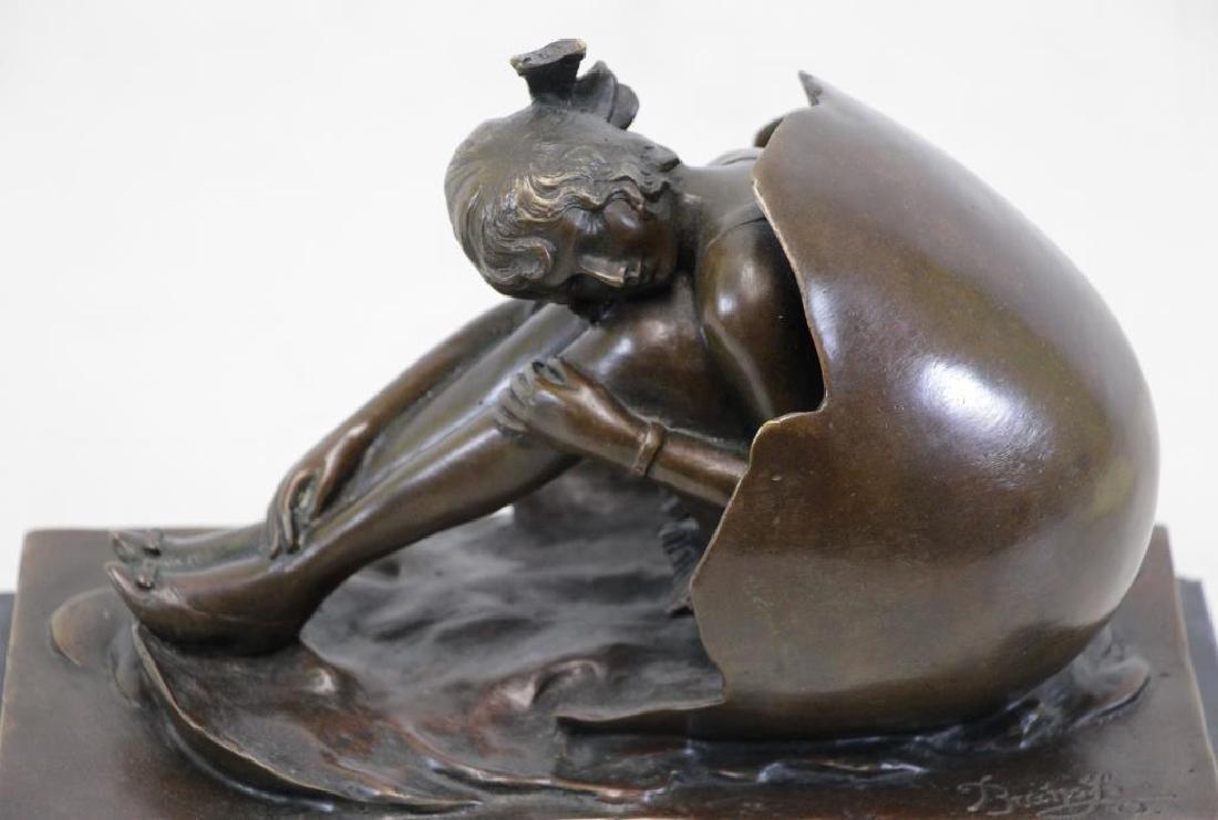 ZACH, Bruno. Bronze. Girl Emerging From Egg. - 3