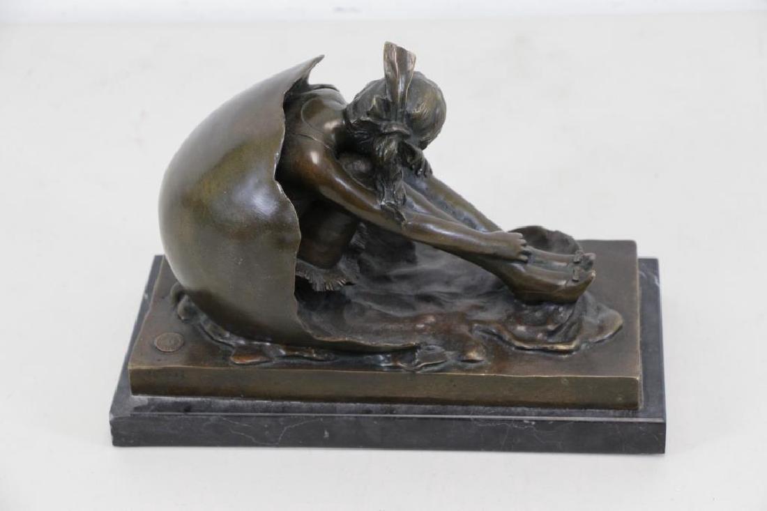ZACH, Bruno. Bronze. Girl Emerging From Egg. - 4