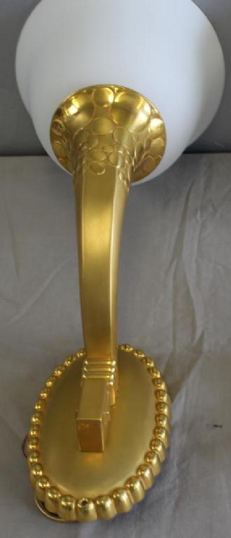 Impressive Pair of Gilt Bronze Art Nouveau Sconces - 2
