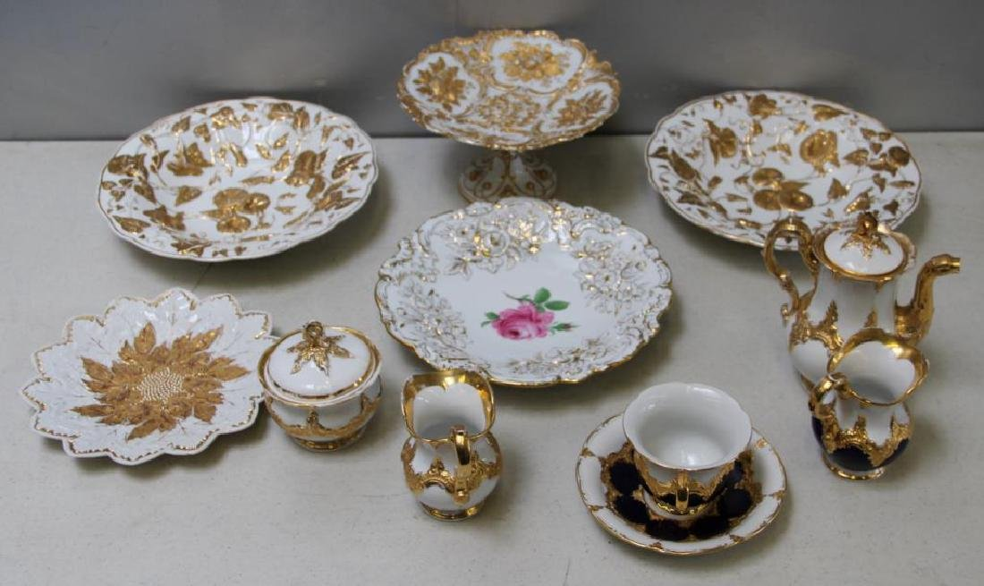 MEISSEN.11 Pieces of Meissen Porcelain To Inc,