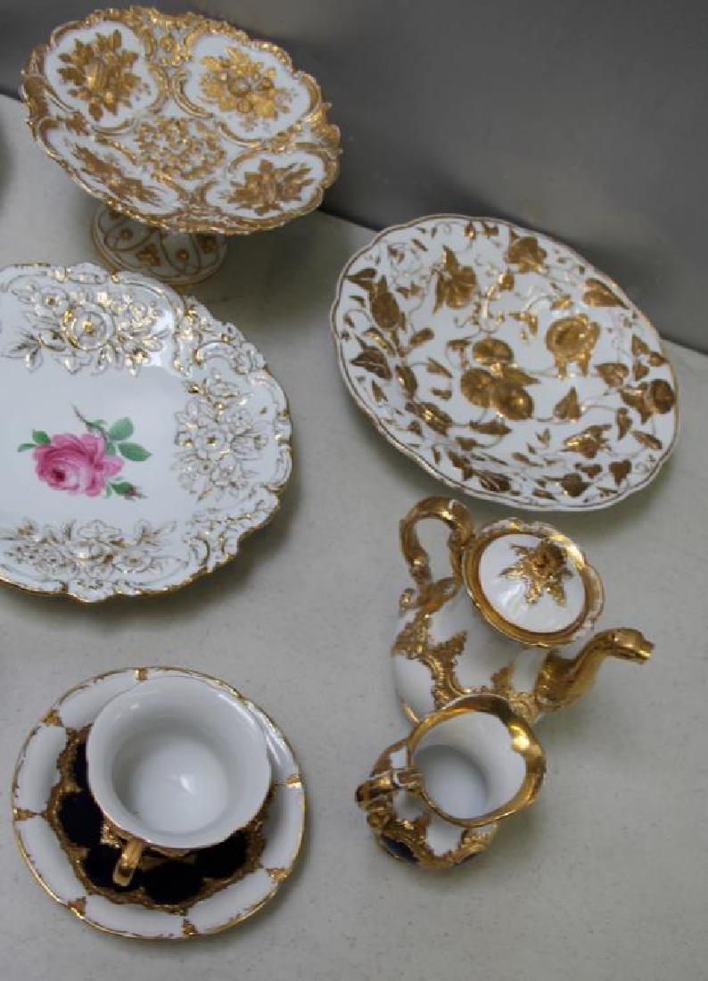 MEISSEN.11 Pieces of Meissen Porcelain To Inc, - 2