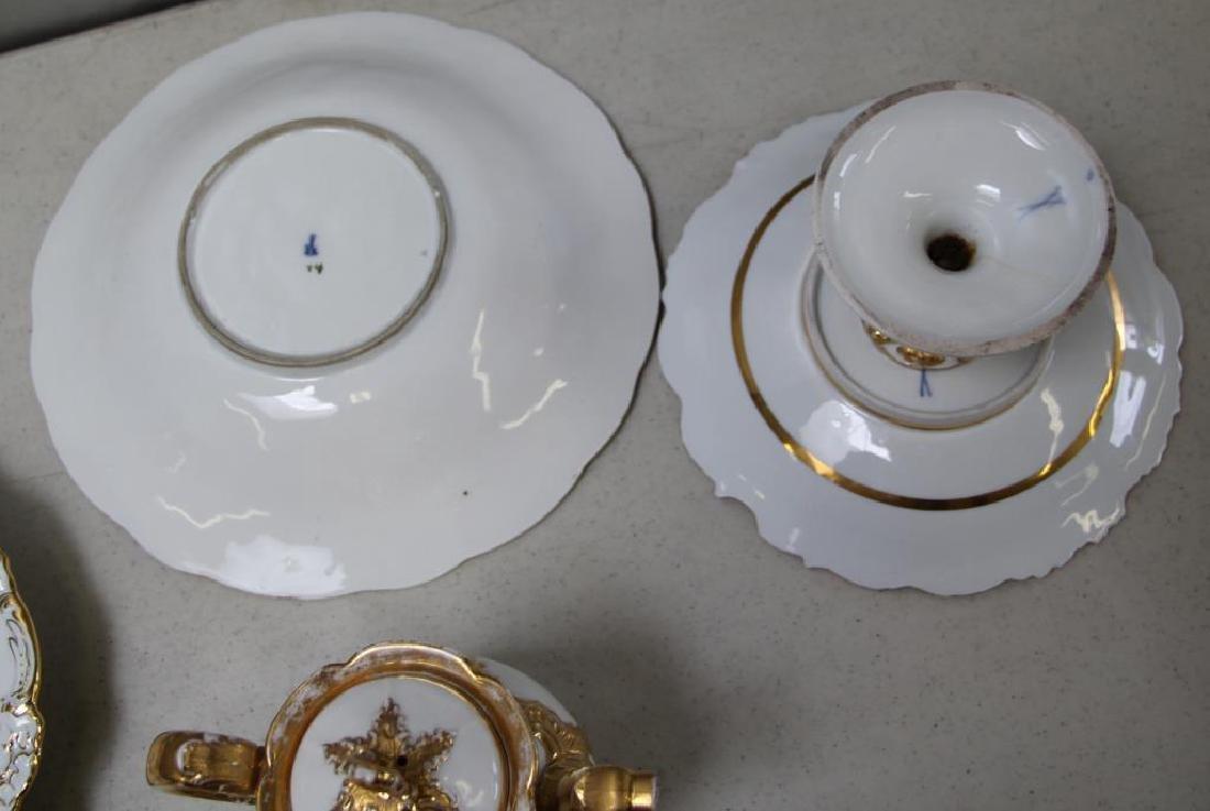 MEISSEN.11 Pieces of Meissen Porcelain To Inc, - 4