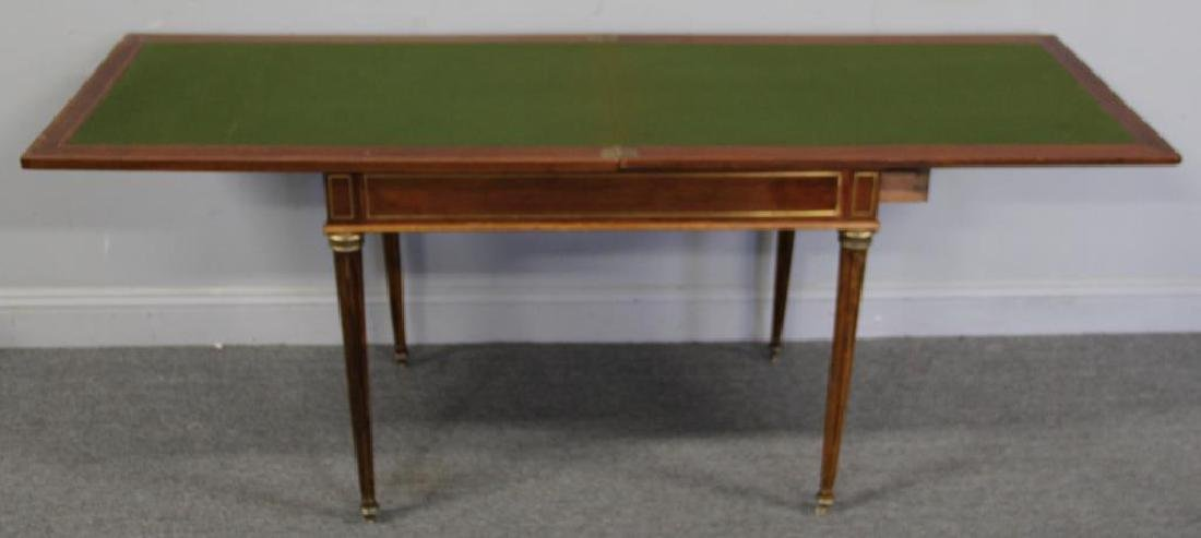Louis XVI Brass Inlaid Lift Top Game Table. - 5