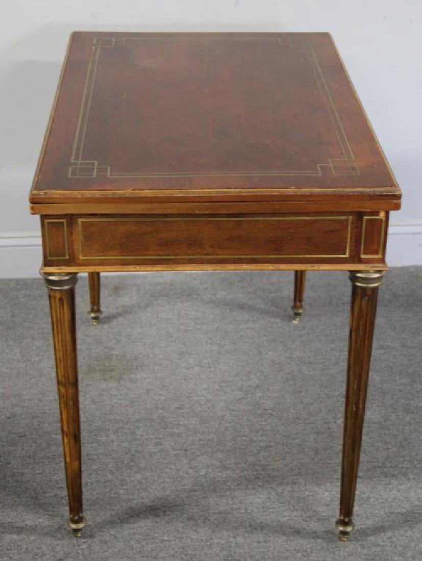 Louis XVI Brass Inlaid Lift Top Game Table. - 6