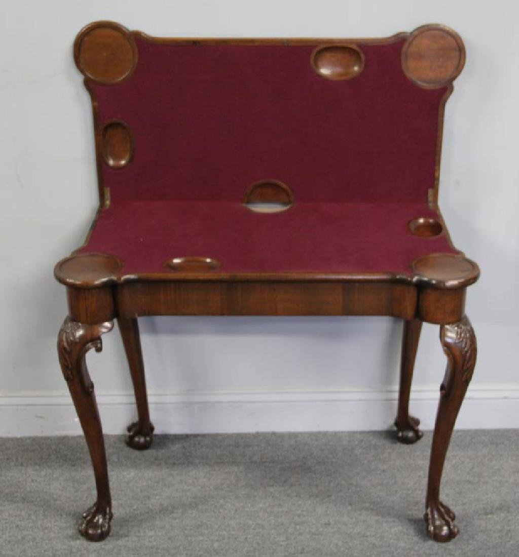 Chippendale Mahogany Flip Top Game Table. - 2