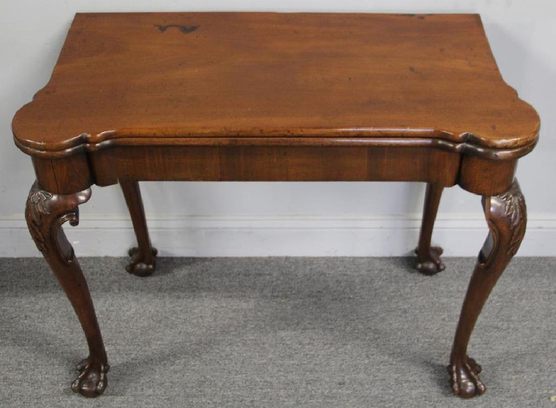 Chippendale Mahogany Flip Top Game Table. - 3