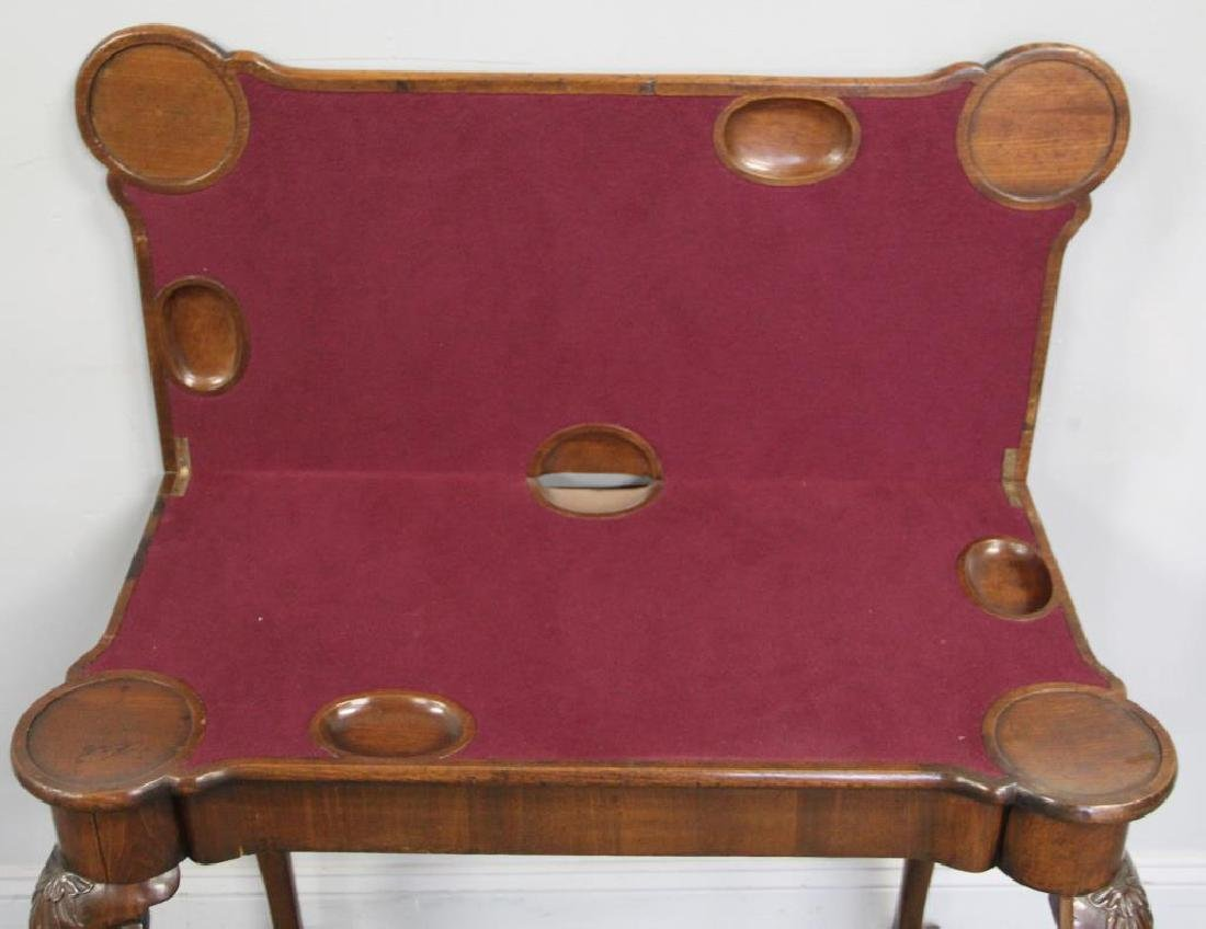 Chippendale Mahogany Flip Top Game Table. - 6