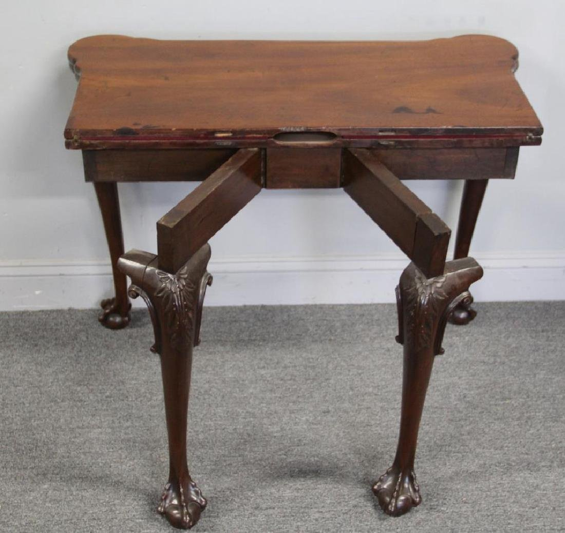 Chippendale Mahogany Flip Top Game Table. - 7