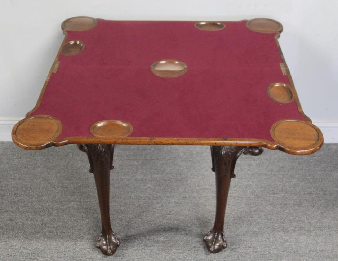 Chippendale Mahogany Flip Top Game Table. - 8
