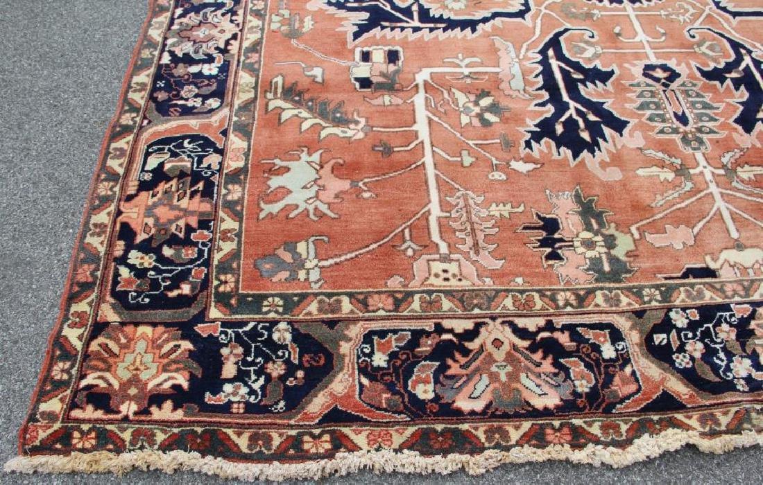 Vintage Heriz Finely Woven Roomsize Carpet. - 2