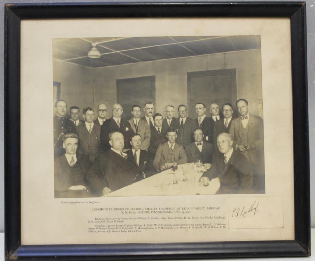 Lindbergh, Charles Signature & Photo