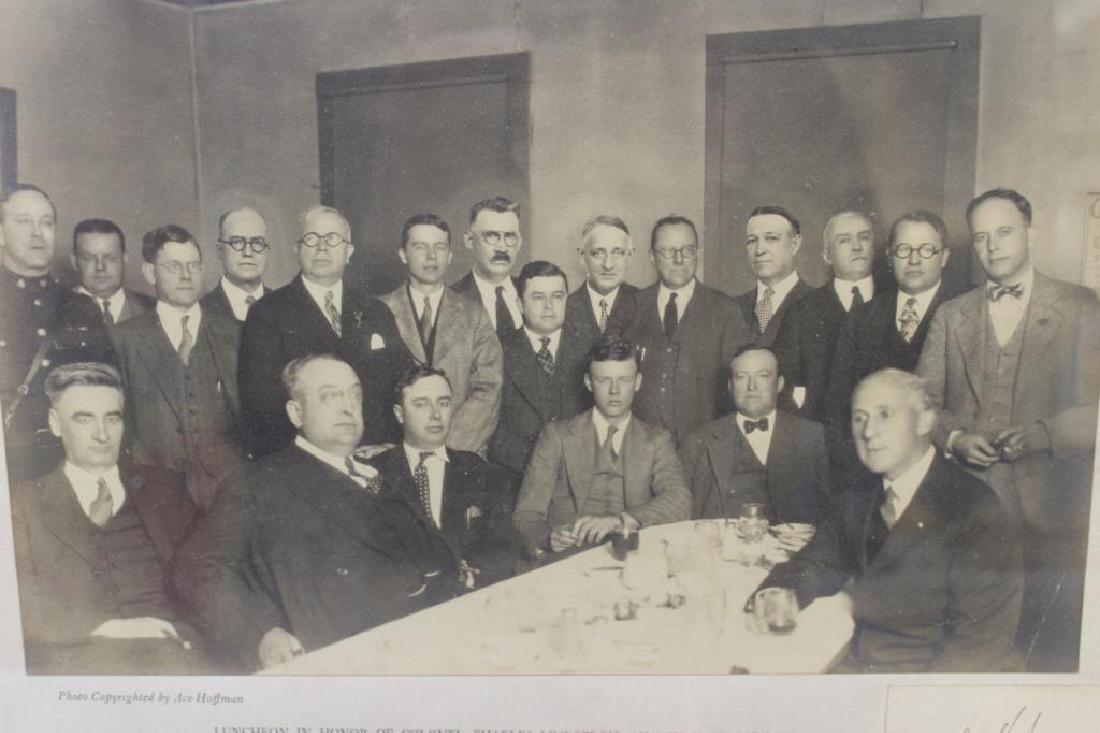Lindbergh, Charles Signature & Photo - 2