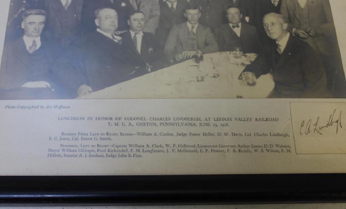 Lindbergh, Charles Signature & Photo - 3