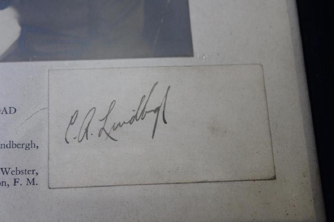 Lindbergh, Charles Signature & Photo - 4