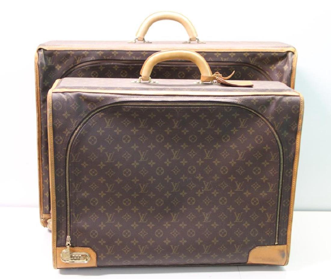 2 Vintage Louis Vuitton Soft Suitcases.