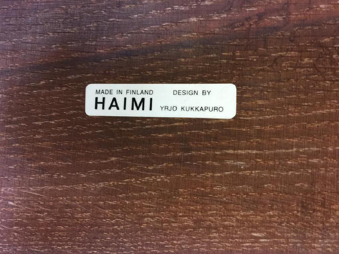 Midcentury Yrjo Kukkapura; Haimi Leather Sofa. - 3