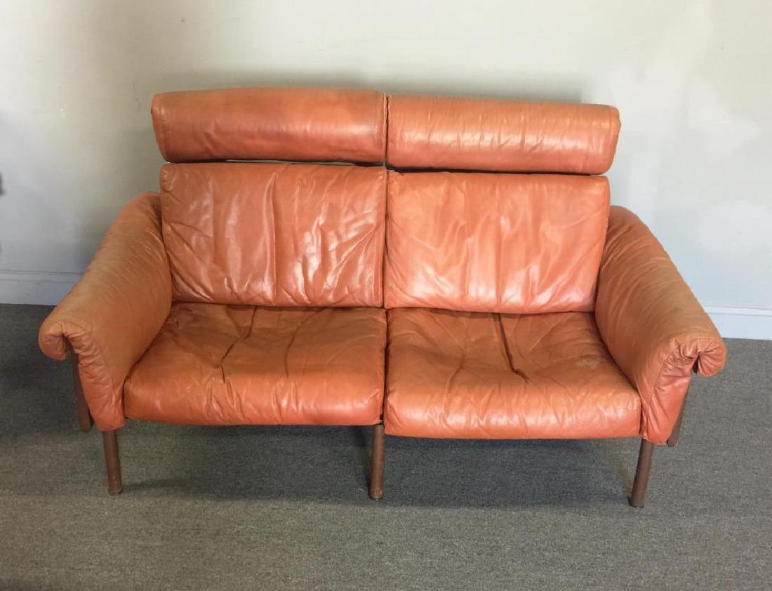 Midcentury Yrjo Kukkapuro; Haimi Leather Settee.