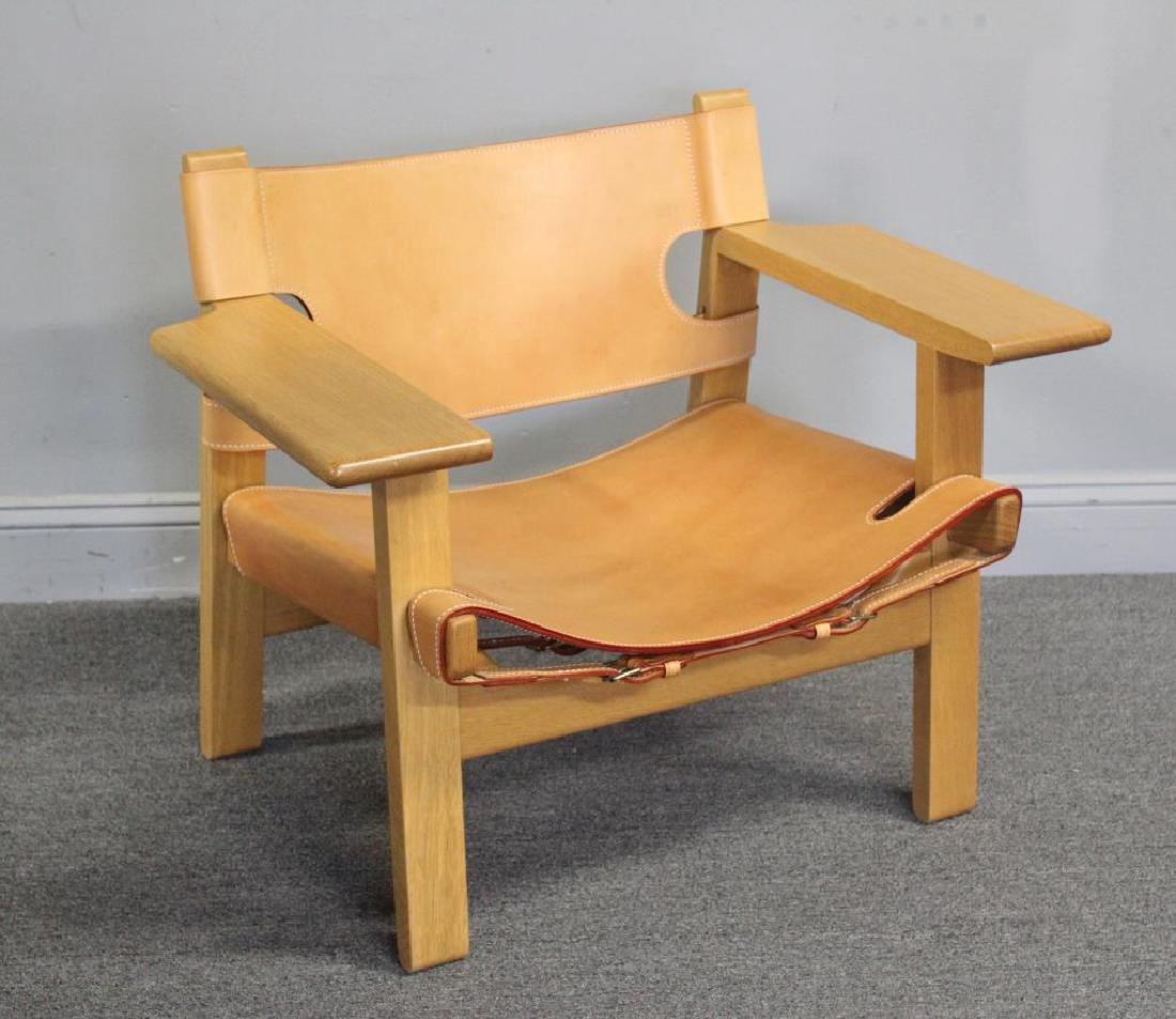 Borge Mogensen; Frederica Spanish Lounge Chair.