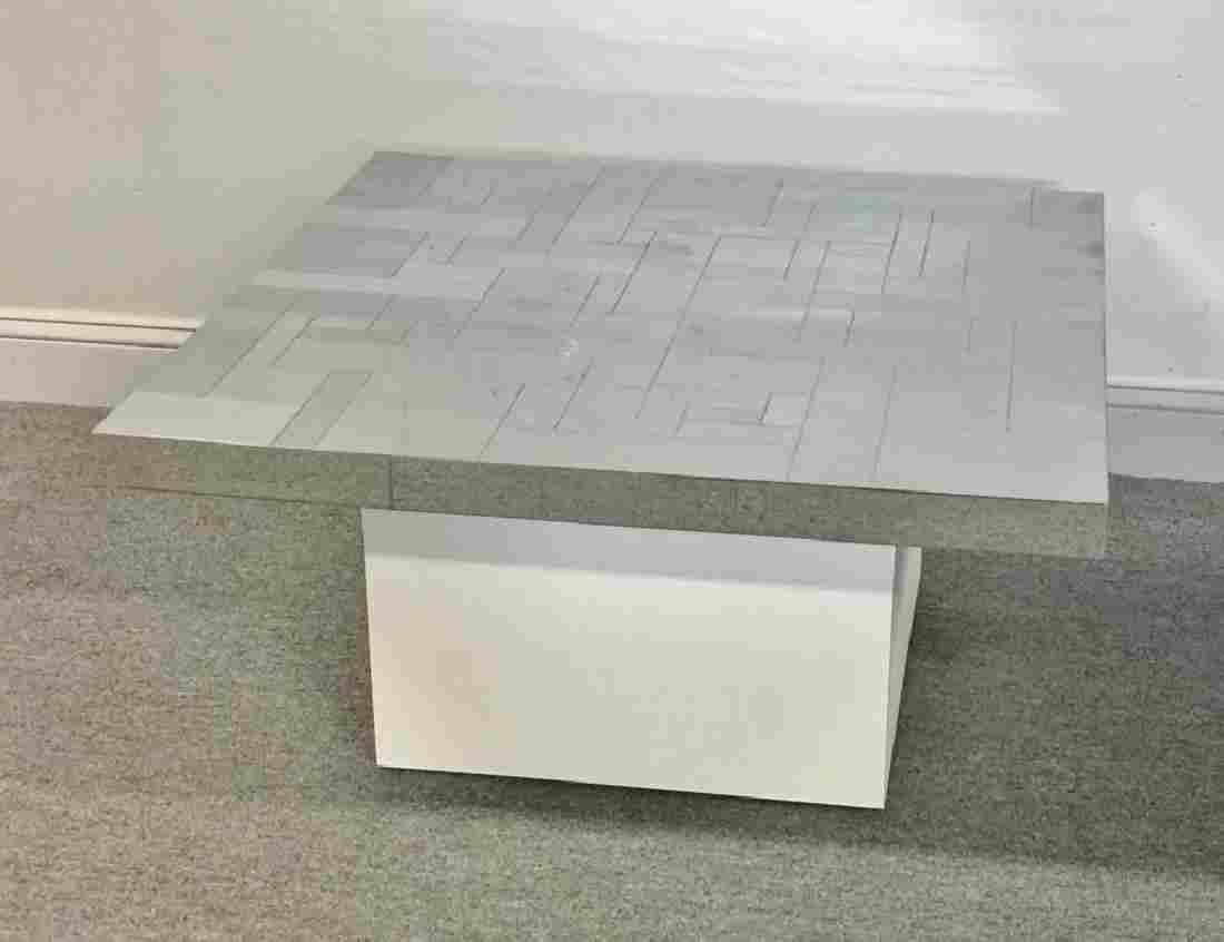Midcentury Paul Evans Chrome Cityscape Side Table.