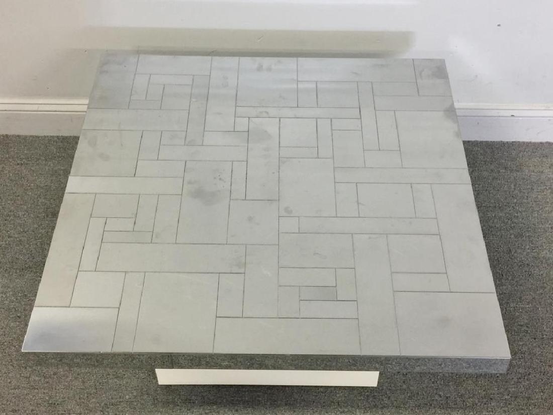 Midcentury Paul Evans Chrome Cityscape Side Table. - 2