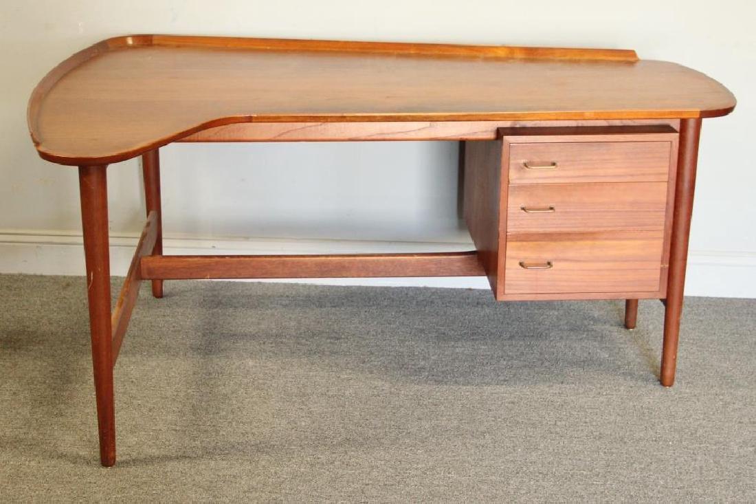 Danish Arne Vodder Teak Desk with Desk Chair. - 2