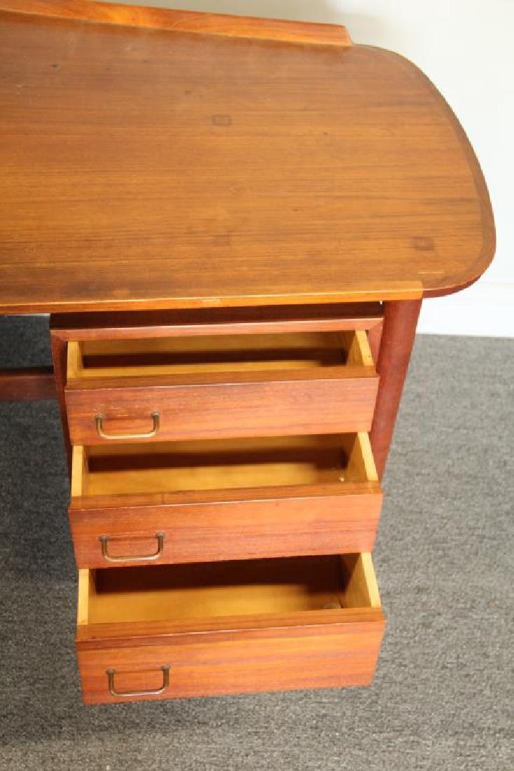 Danish Arne Vodder Teak Desk with Desk Chair. - 3