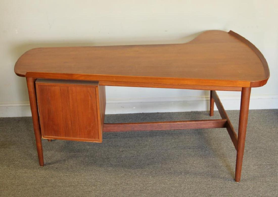 Danish Arne Vodder Teak Desk with Desk Chair. - 5