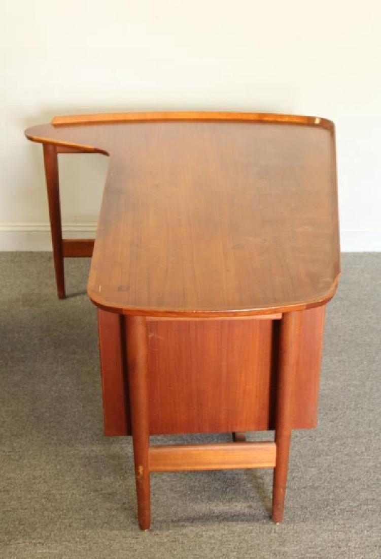 Danish Arne Vodder Teak Desk with Desk Chair. - 6