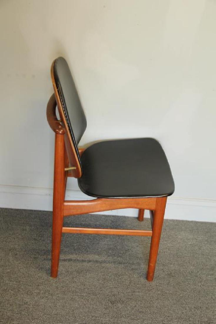 Danish Arne Vodder Teak Desk with Desk Chair. - 7
