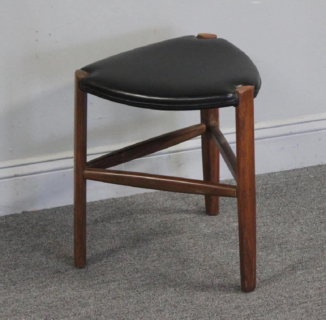 Ole Wanscher Rosewood  & Leather Stool .