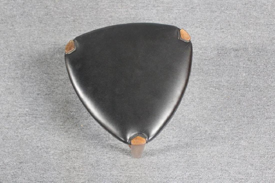Ole Wanscher Rosewood  & Leather Stool . - 2