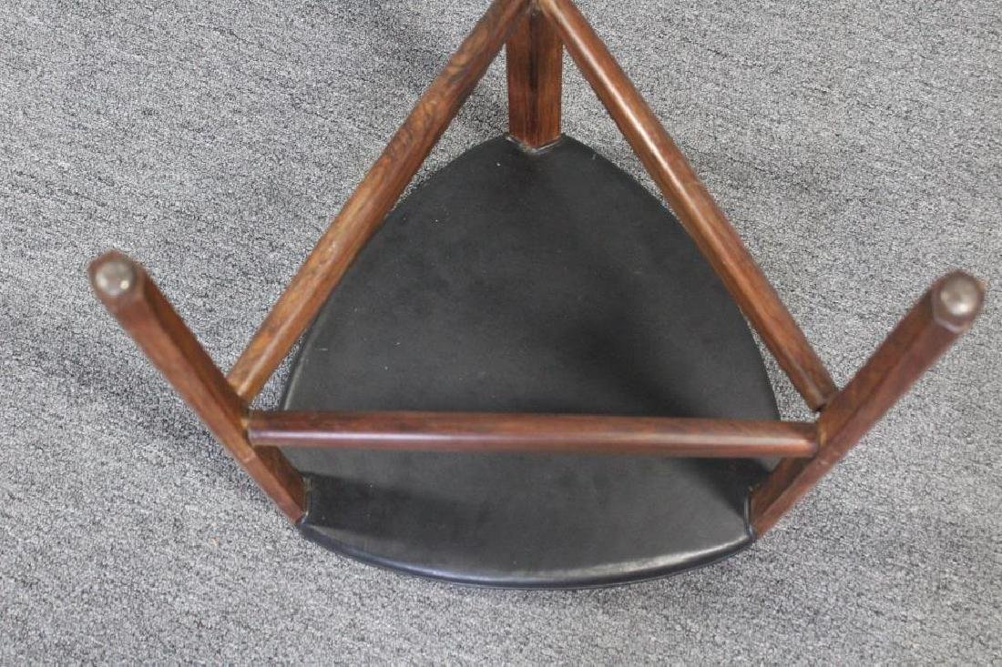 Ole Wanscher Rosewood  & Leather Stool . - 3