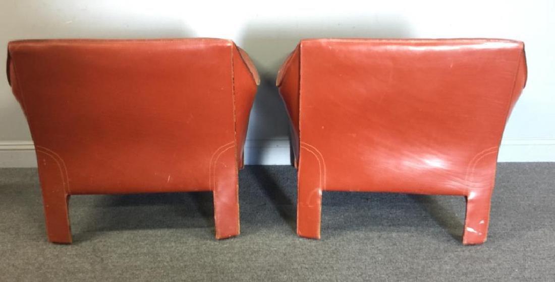 Mario Bellini; Cassina 425 Cab Lounge Chairs. - 5