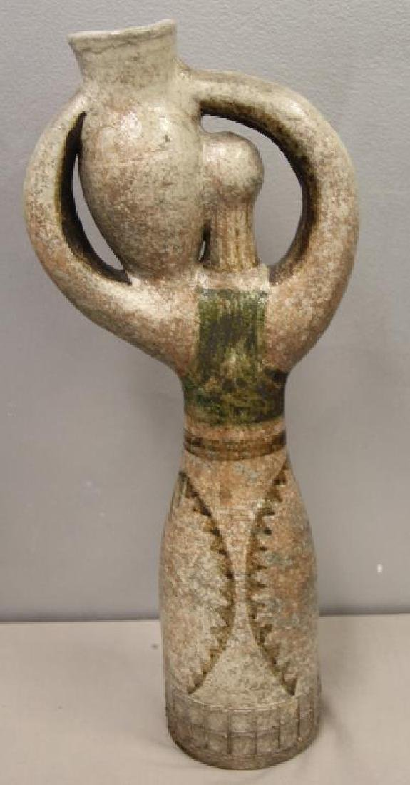 Jean Derval Signed Ceramic Sculpture - 5